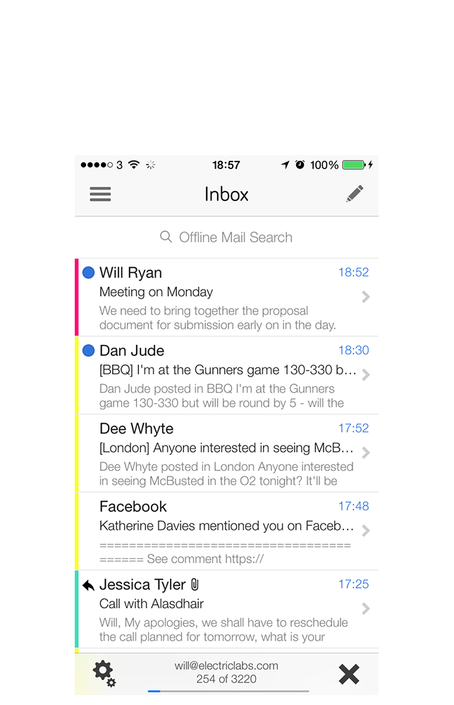 Offline Mail iPhone Screenshot