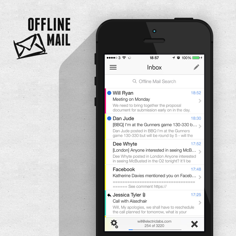 Offline Mail App